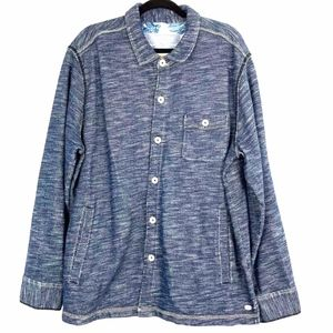 Tommy Bahama Men's Blue Cotton Shirt Jacket 2XL?